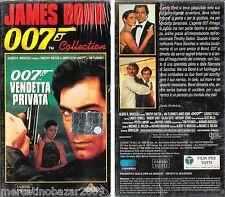 007 VENDETTA PRIVATA (1989) VHS PACKAGE1996 ORGINALE NUOVA SIGILLATA