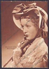FRANCES DEE 03 ATTRICE ACTRESS CINEMA MOVIE USA Cartolina NON FOTOGRAFICA 1938