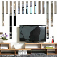 Mirror Wall Sticker Long Decal Sticker Home Party Decor Waterproof DIY Removable