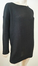 JAMES PERSE LOS ANGELES NERO 100% CASHMERE allentato maglione sweater Sz:3; L