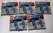 LEGO sealed PROMO POLYBAG Baggie set lot 5 #8028 STAR WARS Mini TIE FIGHTER SHIP