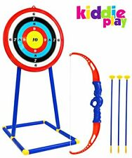Kiddie Play Bow and Arrow for Kids Toy Archery Set with Target for Boys and G...