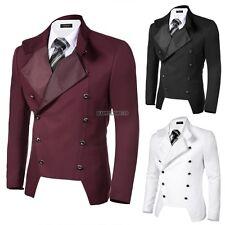 Coofandy Stylish Men's Casual Double-breasted Jacket Slim Fit Blazer S-XXL Size