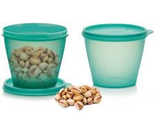 Tupperware set (2) grands raviers Bungee 0,8l vert clair neuf dm