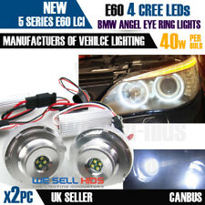 40W CREE BMW E60 LCI 2007- (HALOGEN HEADLAMPS) ANGEL EYES HALO RINGS LED MARKER