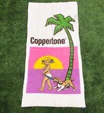 Rare VTG 70s/80s Coppertone Sun Tan Lotion Pop Culture Iconic Logo Beach Towel
