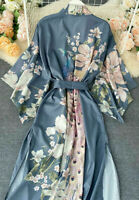 Nwt FUNKY STUFF peacock kimono CARDIGAN ROBE TOP DUSTER COVERUP XL Free shipping