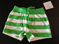 BNWT Baby Boys 6-12 Months Sz 0 Itty Bitty /& Handsome Brand Green Checked Shorts