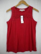 NWT ANN TAYLOR LOFT zesty red Crochet sleeveless TOP XS Maternity