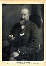 Ferdinand, Zar der Bulgaren besucht Berlin Hofphot. Prof. Uhlenhurth, Koburg1912