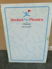 Hooked on Phonics The Classic Boxed Set - Cassettes, Flashcards & Workbooks Euc