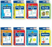 School Zone Flash Cards, Go Fish, Alphabet, Additions, Subtraction, Numbers +