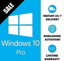 GENUIINE WINDOWS 10 PRO 32 / 64BIT OEM ORIGINAL LICENSE KEY- SCRAP PC