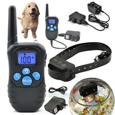 Electric Trainer E-Collar Waterproof Remote Pet Safe Dog Shock Training Collar