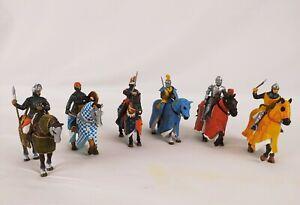 Lotto Di 6 Soldatini In Piombo Medioevali A Cavallo De Agostini