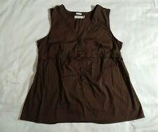 Brown blouse Old navy maternity stretch v neck sleeveless cotton nylon spandex