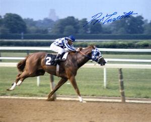 RON TURCOTTE SIGNED 8x10 PHOTO SECRETARIAT HORSE RACING JOCKEY RARE BECKETT BAS