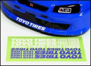 (Chevron STS027) Decal Sticker Toyo Tires Official Licenced  Made in Japan