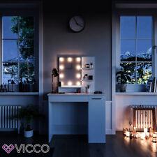 Vicco LED Schminktisch Julia weiß Frisiertisch Hocker Frisierkommode Spiegel