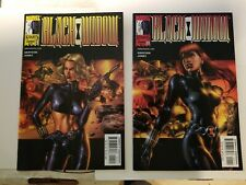 Black Widow Marvel Knights 1 Cover B Jg Jones and cover A
