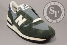 NEW BALANCE CLASSICS M990CERI HERITAGE 990 GREEN NAVY BLUE OFF WHITE SIZE: 10.5