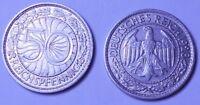 ALEMANIA WEIMAR REPÚBLICA FEDERAL ALEMANA 50 Reichspfennig 1928 A