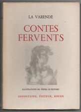 CONTES FERVENTS JEAN de LA VARENDE ILL. LE TRIVIDIC E.O. N° SUITE 8 GRAVURES