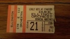 ticket stub - Duke Ellington Orchestra - Stanford University 1988