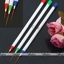 3x Maniküre Nagel Pinsel Spitzpinsel Nail Art Striper Nagel Design Werkzeug Neu
