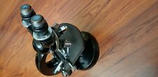 AWESOME Vintage Black Carl Zeiss Binocular Microscope w/Stage and 4 Objectives