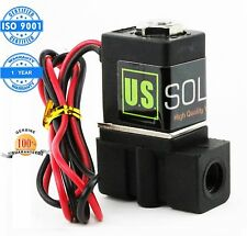 "U. S. Solid 1/8"" Nylon Electric Solenoid Valve 12V DC Normally Closed NBR"