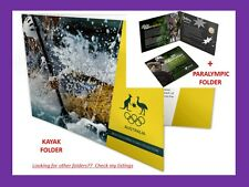 2016 RIO Olympics coloured 5 x $2 Set in KAYAK folder+ Paralympic coin in folder