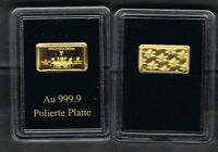 Medaille: Gold (-barren) Quadriga Münze Berlin 1 g Gold 999er [7121]