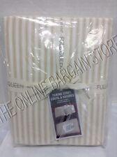 Pottery Barn West Elm Ticking Stripe Bed Duvet Cover Full Queen FQ Horseradish