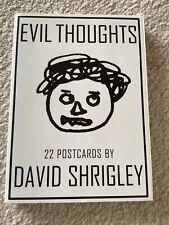 More details for evil thoughts: 22 postcards by david shrigley. postcard book.