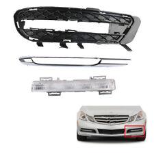 Set Fog Light Lamp + Grille & Trim For Mercedes Benz W212 E350 Left LH Bumper