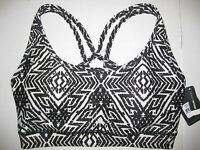 New with Tags Reebok Womens Mesh Back Strappy Printed Sports Bra Vest Top