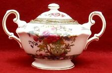 PARAGON china TREE OF KASHMIR Scalloped pattern Sugar Bowl & Lid