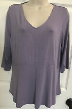 LN J. Jill Wearever Collection Sx MP Purple 3/4 Sleeve V Neck Top - Worn Once