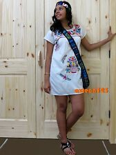 Mexican Short Dress Puebla In Assorted Colors and Sizes