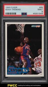 1993 Fleer Basketball Isiah Thomas #65 PSA 9 MINT