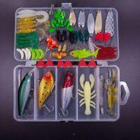 1X(77 pezzi set esche da pesca Set per basso, trota, salmone, tra cui esche HK
