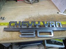 CHEVY VAN 30 TRIM 1973 1987 EMBLEM DECAL 14052243 14060365 ORIGINAL OEM CHROME