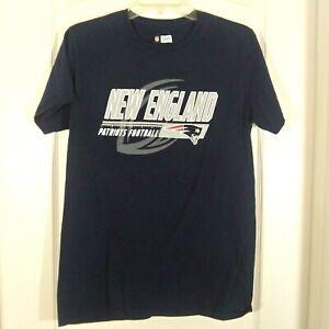 NFL Team Apparel New England Patriots Football Navy Blue T Shirt Size Med