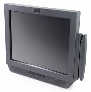 """4838-54E IBM AnyPlace Kiosk, 15"""" Infrared Touch Display, with MSR"""