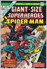 Giant-Size Super-Heroes #1 Vf+ 8.5 Spider-Man Morbius Man-Wolf Gil Kane Art!