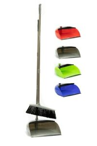 Long Handled Dustpan and Brush Floor Sweeper Set Dust Pan Broom Easy Cleaner