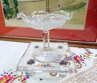"EAPG IMPERIAL GLASS THREE IN ONE AKA FANCY DIAMONDS CLEAR 5"" RUFFLED COMPOTE"