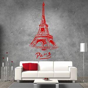 XXL Eifelturm Paris 115x221cm Wandtattoo Aufkleber Frankreich Liebe Abstrakt