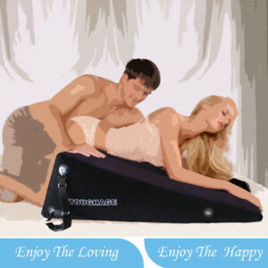 Cozy Feel Wedge Ramp Position love Pillow with Handcuffs Straps Kit 3202